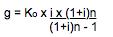 Formel 1 zur berechnung der Annuitätenmethode